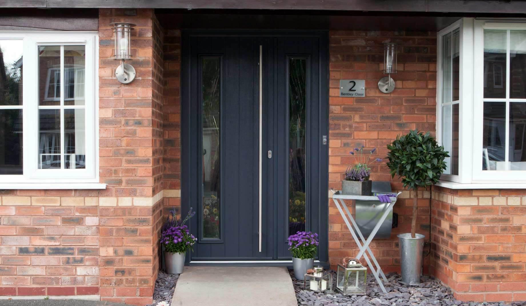 pale grey composite front door dorset