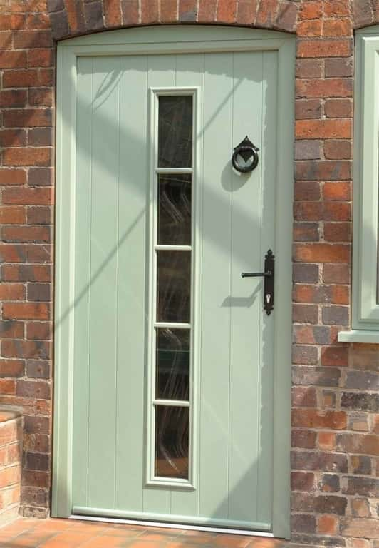 Chartwell green composite door with black traditional style accessories Bournemouth