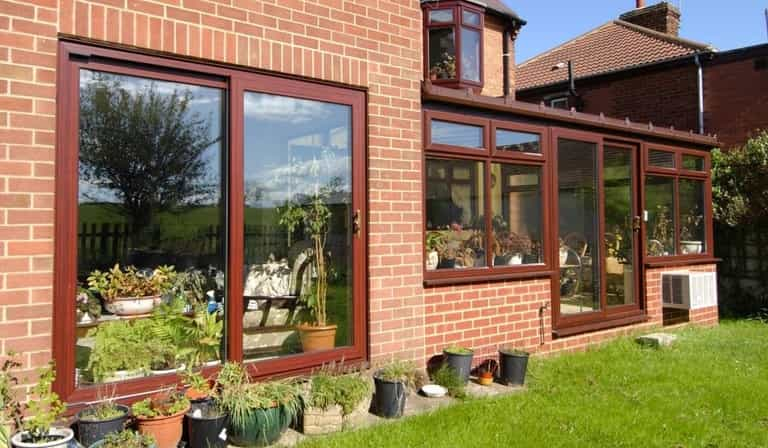 uPVC rosewood patio doors Dorchester
