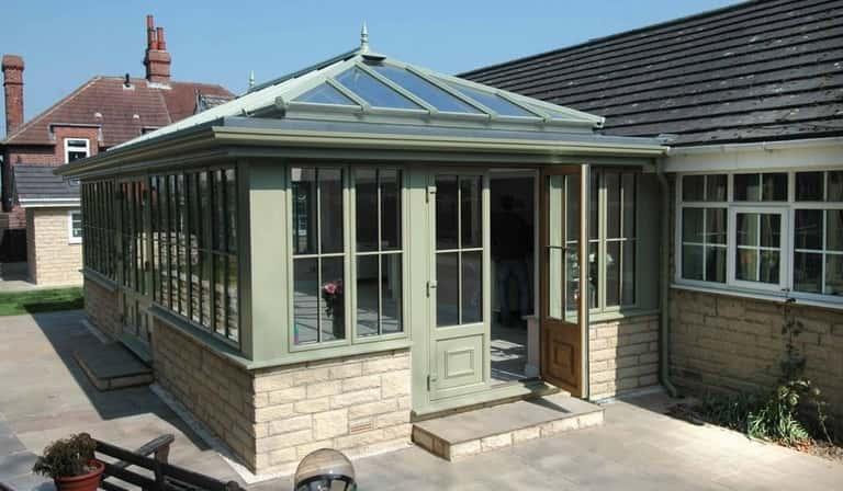 Sage Green Roof Lantern Dorset